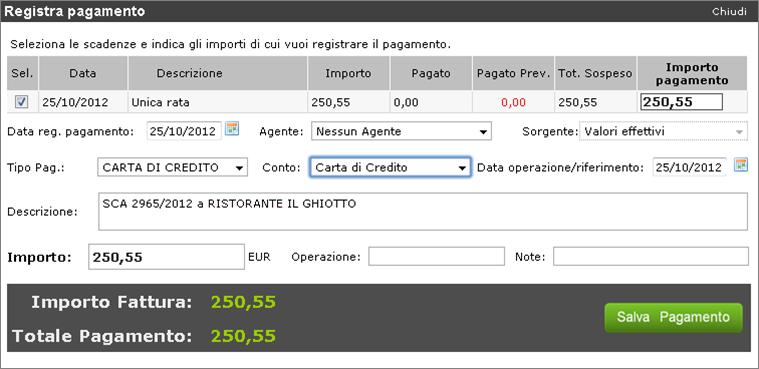 gestionale cloud, gestionale gratis, carte di credito, incassi