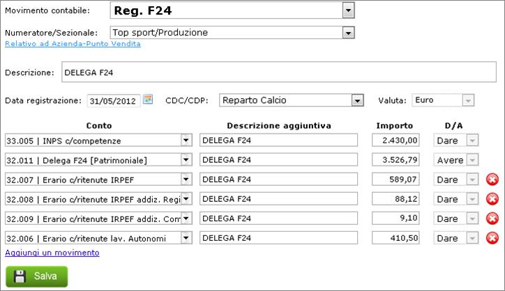 Modello f24 e pagamento delle imposte con giobby giobby for F24 elide prima registrazione