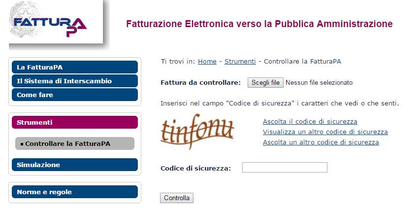 Controllo del file prima dell' upload
