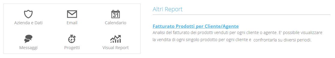 Report Prodotti per Cliente/Agente